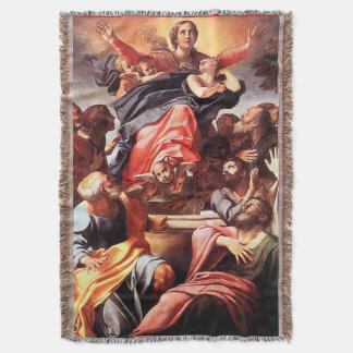 Immaculate Conception Virgin Mary Assumption 01 Throw Blanket