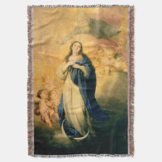 Immaculate Conception Virgin Mary Assumption 02 Throw Blanket
