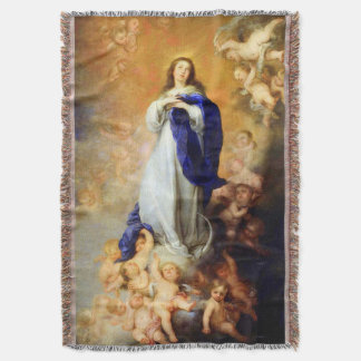 Immaculate Conception Virgin Mary Assumption 04 Throw Blanket