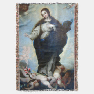 Immaculate Conception Virgin Mary Assumption 05 Throw Blanket
