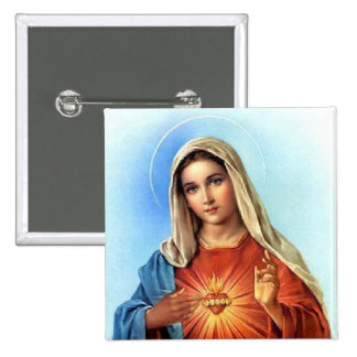 Immaculate Heart Mary 15 Cm Square Badge