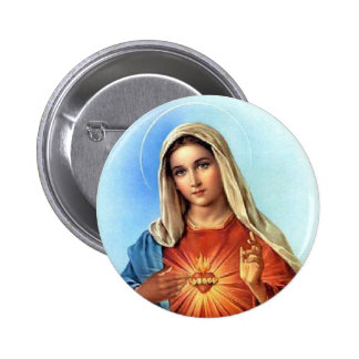 Immaculate Heart Mary 6 Cm Round Badge