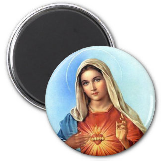 Immaculate Heart Mary 6 Cm Round Magnet