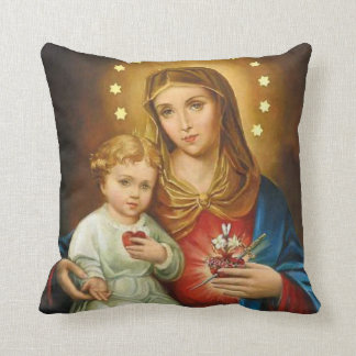 Immaculate Heart Mary with Baby Jesus Cushion