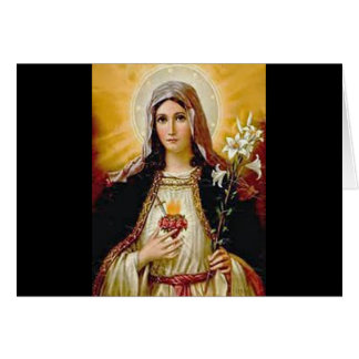 Immaculate heart of holy virgin Mary,mother of GoD Greeting Card
