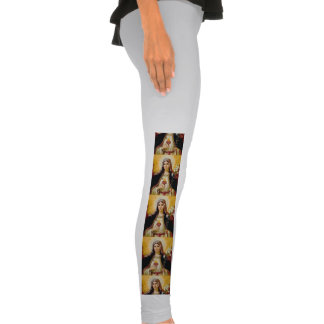 Immaculate heart of holy virgin Mary,mother of GoD Legging Tights