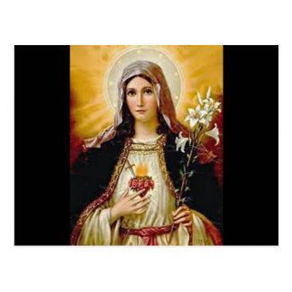 Immaculate heart of holy virgin Mary,mother of GoD Postcard