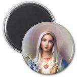 Immaculate Heart of Mary 6 Cm Round Magnet