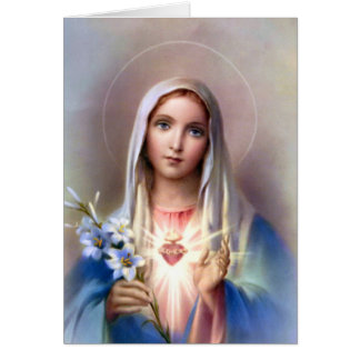 Immaculate heart of Mary card