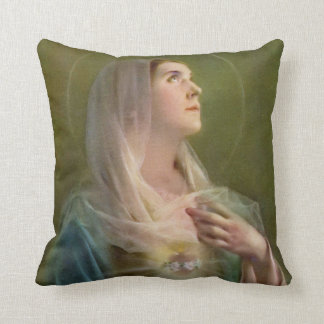Immaculate Heart of Mary Catholic Pillow|Gift Throw Pillow
