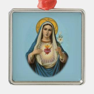 Immaculate Heart of Mary Custom Ornament