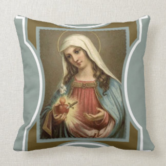 Immaculate Heart of Mary flame sword Throw Pillow