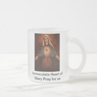 Immaculate Heart of Mary Frosted Glass Mug