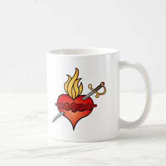 Immaculate Heart of Mary Icon Basic White Mug