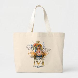 Immaculate Heart of Mary Jumbo Tote Bag