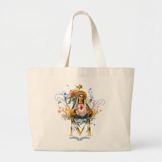 Immaculate Heart of Mary Large Tote Bag