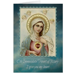 Immaculate Heart of Mary Note Card w/prayer