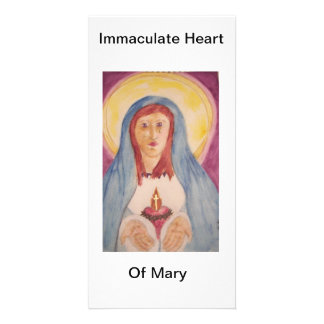 Immaculate Heart Of Mary Personalised Photo Card