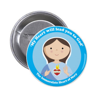 Immaculate Heart of Mary Pinback Buttons