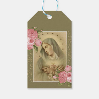 Immaculate Heart of Mary Pink Roses Floral
