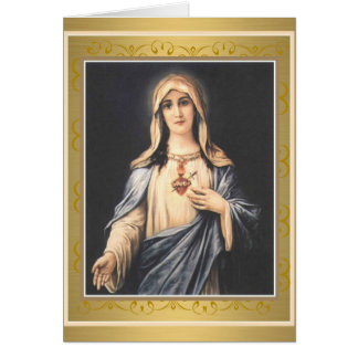Immaculate Heart of Mary Religious Greeting Card
