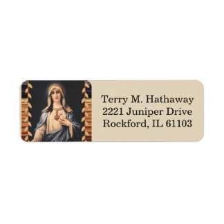 Immaculate Heart of Mary  Sorrowful Mother Return Address Label
