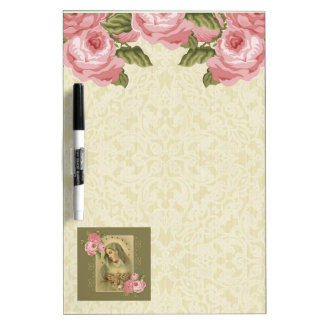 Immaculate Heart of Mary w/roses Dry Erase Whiteboards