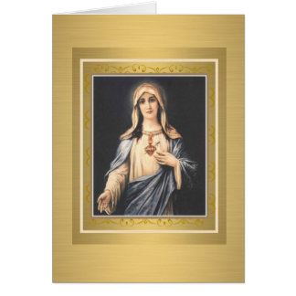 Immaculate Heart of Virgin Mary BLESSING Note Card