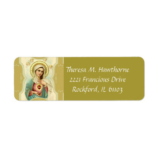 Immaculate Heart of Virgin Mary Return Address Label