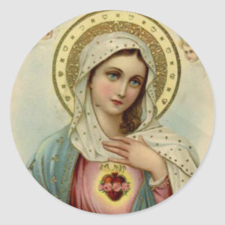 Immaculate Heart of Virgin Mary Round Sticker