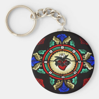 Immaculate Heart Stained Glass Keychain