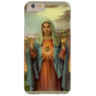Immaculate Heart Virgin Mary Flame Roses Barely There iPhone 6 Plus Case