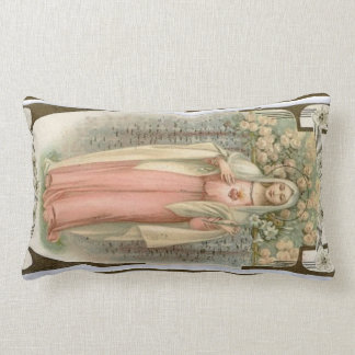Immaculate Heart Virgin Mary Floral Print Cushions
