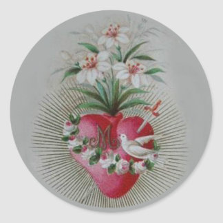 Immaculate Sorrowful  Heart of Virgin Mary Round Sticker