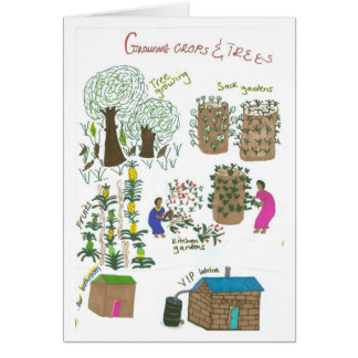 Immaculate's Bag Garden Greeting Card