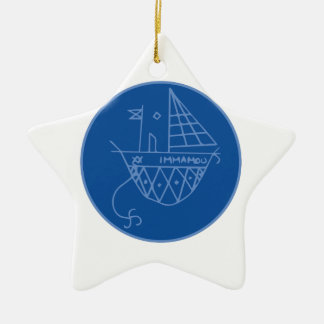 Immamou Veve Double-Sided Star Ceramic Christmas Ornament