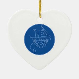 Immamou Veve Ceramic Heart Ornament