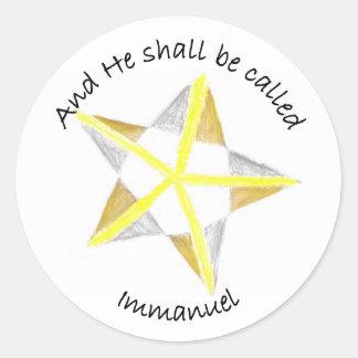 Immanuel Classic Round Sticker