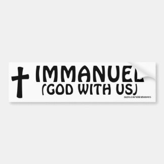 Immanuel God With Us Bumper Sticker