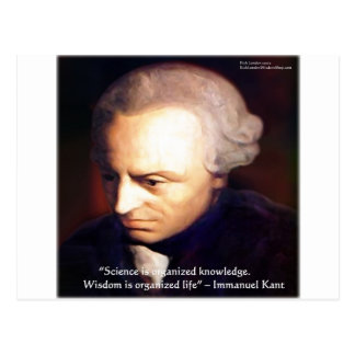 Immanuel Kant Science Vs Knowledge Quote Gifts Postcard