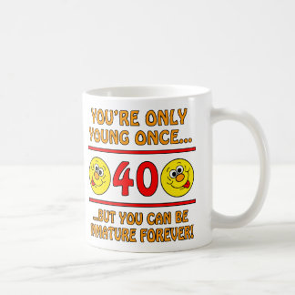 Immature 40th Birthday Gag Gifts Mug