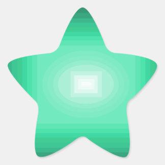 Immersed in Turquoise Modern Design CricketDiane Star Sticker