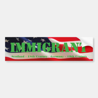 Immigrant American Bumper Sticker