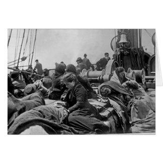 Immigrants aboard Steamship Card