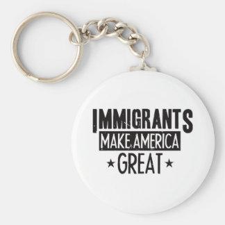 Immigrants Make America Great Key Ring