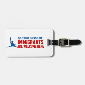 Immigrants Welcome Luggage Tag