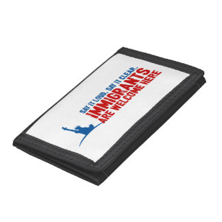 Immigrants Welcome Tri-fold Wallet