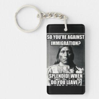 Immigration keychain