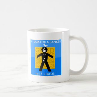 immortalised...vandalised... occupy wall street basic white mug