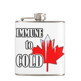 Immune To Cold Canada Day Flask
